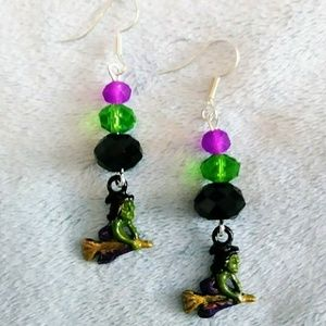 Wicked Witch Halloween earrings